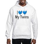 I Love My Twins Hooded Sweatshirt