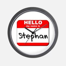 Hello my name is Stephan Wall Clock