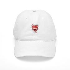 Heart Las Vegas Baseball Cap