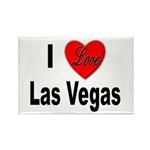 I Love Las Vegas Rectangle Magnet (10 pack)