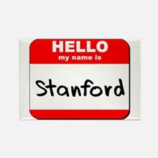 Hello my name is Stanford Rectangle Magnet
