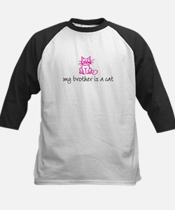 my brother is a cat - pink Kids Baseball Jersey