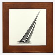 SailCloth's sailboat Framed Tile