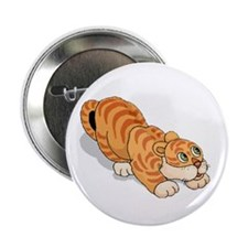"""Whimsical Tiger 2.25"""" Button"""