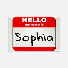 Hello my name is Sophia Rectangle Magnet