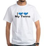 I Love My Twins White T-Shirt