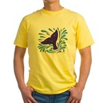 Whale Tail Splash Yellow T-Shirt