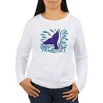 Whale Tail Splash Women's Long Sleeve T-Shirt