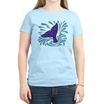 Whale Tail Splash Women's Light T-Shirt