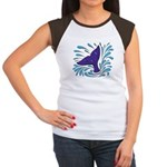 Whale Tail Splash Women's Cap Sleeve T-Shirt