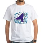 Whale Tail Splash White T-Shirt