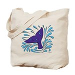 Whale Tail Splash Tote Bag