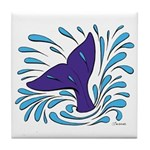 Whale Tail Splash Tile Coaster