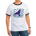 Whale Tail Splash Ringer T