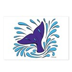 Whale Tail Splash Postcards (Package of 8)