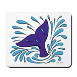 Whale Tail Splash Mousepad