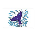 Whale Tail Splash Mini Poster Print