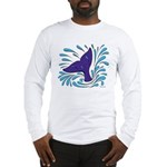 Whale Tail Splash Long Sleeve T-Shirt