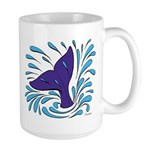 Whale Tail Splash Large Mug