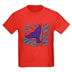 Whale Tail Splash Kids Dark T-Shirt
