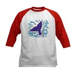 Whale Tail Splash Kids Baseball Jersey