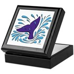 Whale Tail Splash Keepsake Box
