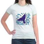 Whale Tail Splash Jr. Ringer T-Shirt