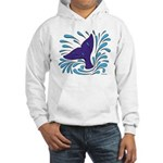Whale Tail Splash Hooded Sweatshirt