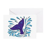 Whale Tail Splash Greeting Card
