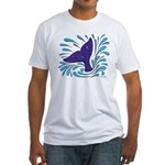 Whale Tail Splash Fitted T-Shirt