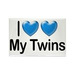 I Love My Twins Rectangle Magnet (10 pack)