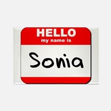 Hello my name is Sonia Rectangle Magnet