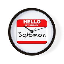 Hello my name is Solomon Wall Clock