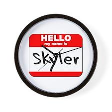 Hello my name is Skyler Wall Clock