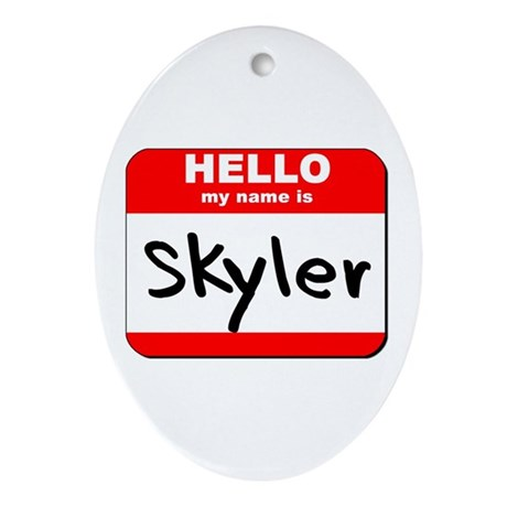 Hello my name is Skyler Oval Ornament