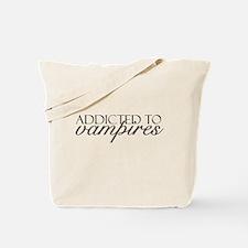 Addicted to Vampires Tote Bag