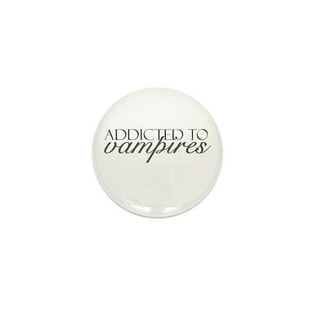 Addicted to Vampires Mini Button