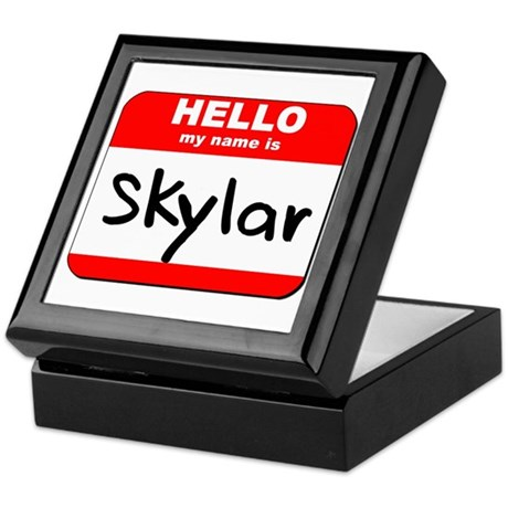 Hello my name is Skylar Keepsake Box