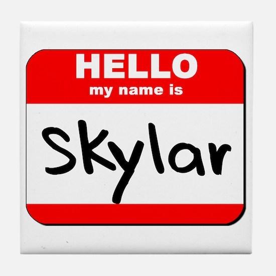 Hello my name is Skylar Tile Coaster