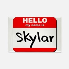 Hello my name is Skylar Rectangle Magnet