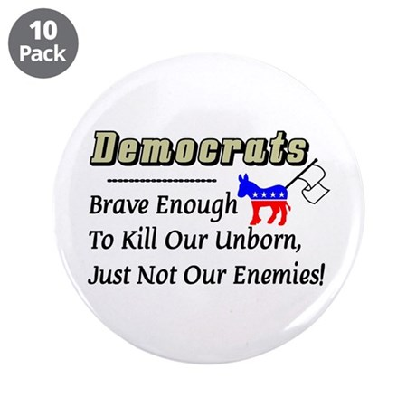 """Democrats"" 3.5"" Button (10 pack)"