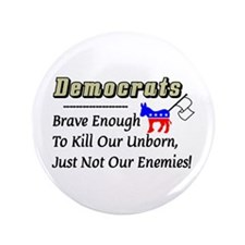 """Democrats"" 3.5"" Button"
