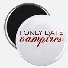 I only date vampires - red Magnet