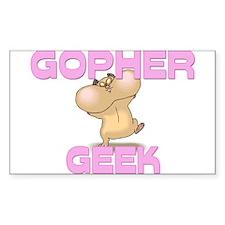 Gopher Geek Rectangle Decal