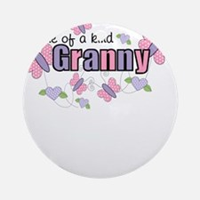One Of A Kind Granny Ornament (Round)