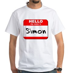 Hello my name is Simon White T-Shirt