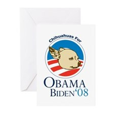 Chihuahuas For Obama Greeting Cards (Pk of 20)