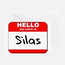 Hello my name is Silas Greeting Card