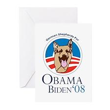 German Shepherds for Obama Greeting Cards (Pk of 1