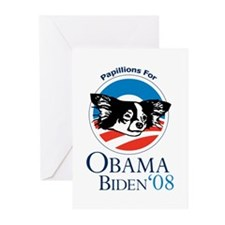 Papillions for Obama Greeting Cards (Pk of 10)